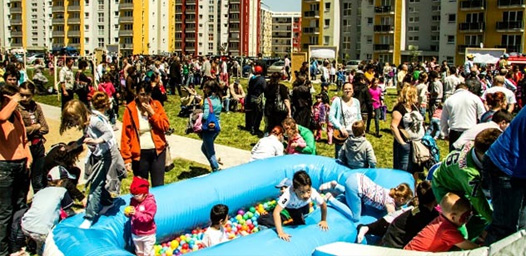 Orășelul copiilor în cartierul Avantgarden